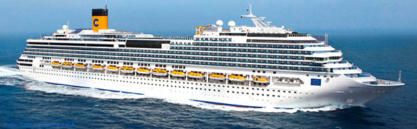 Costa fascinosa kreuzfahrtschiff for Costa pacifica piano nave